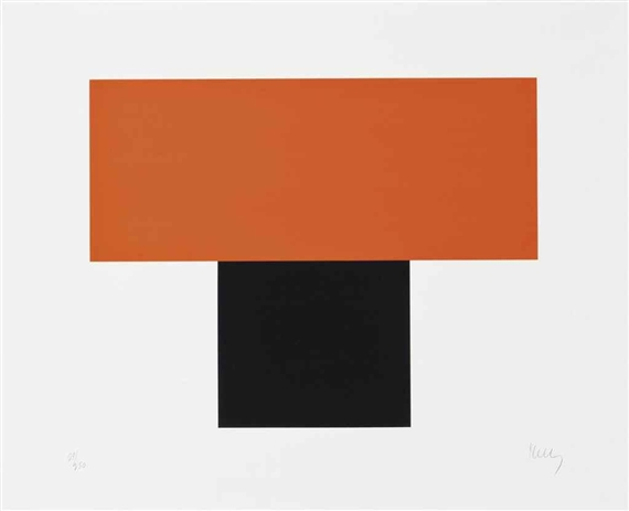 Red-Orange over Black, 1970 - Ellsworth Kelly