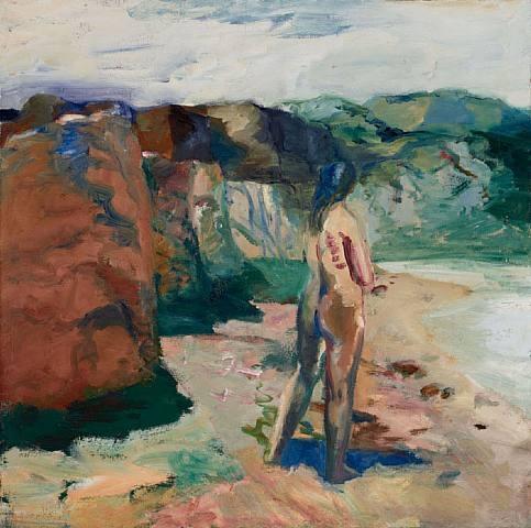 Figure with White Lake, 1964 - Elmer Bischoff