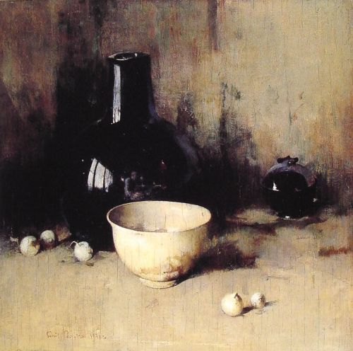 Still Life with Self Portrait - Emil Carlsen