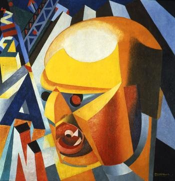 Ritratto di F.T. Marinetti. Sintesi plastica (Marinetti sintesi plastica) - Enrico Prampolini