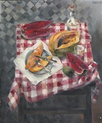 Mesa con Frutas - Enrique Grau