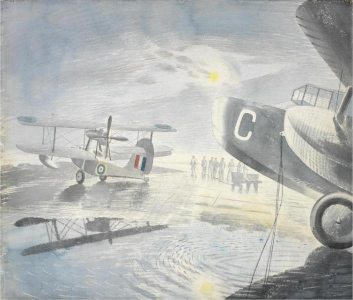 Morning on the Tarmac, 1941 - Eric Ravilious