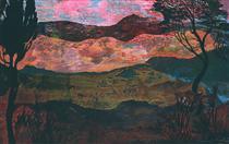 SOUTHERN FRENCH LANDSCAPE - Ernst Fuchs