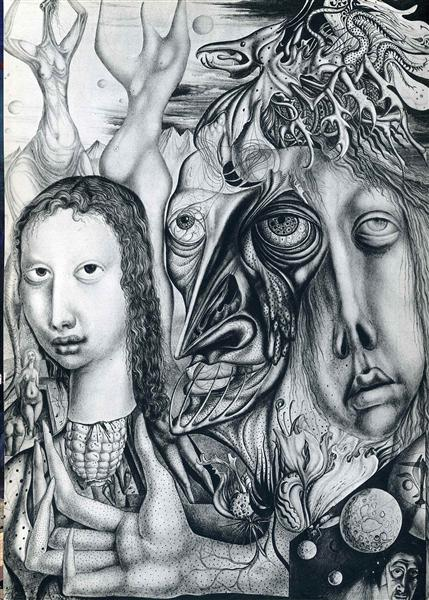 The Lamentation of the ambivalent, 1947 - Ernst Fuchs