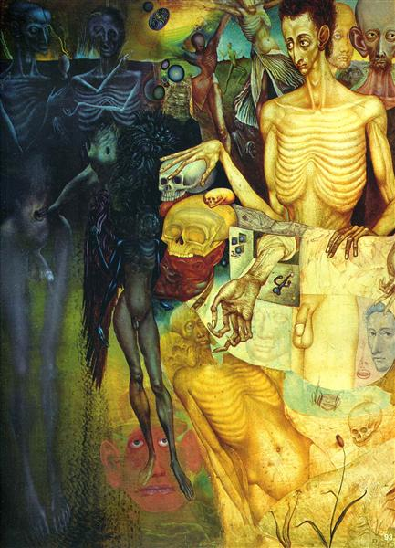Transformations of Flesh, 1949 - Ernst Fuchs