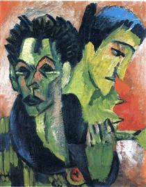 Douple Self-Portrait - Ernst Ludwig Kirchner