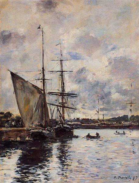 Deauville, the Harbor, 1897 - Eugene Boudin
