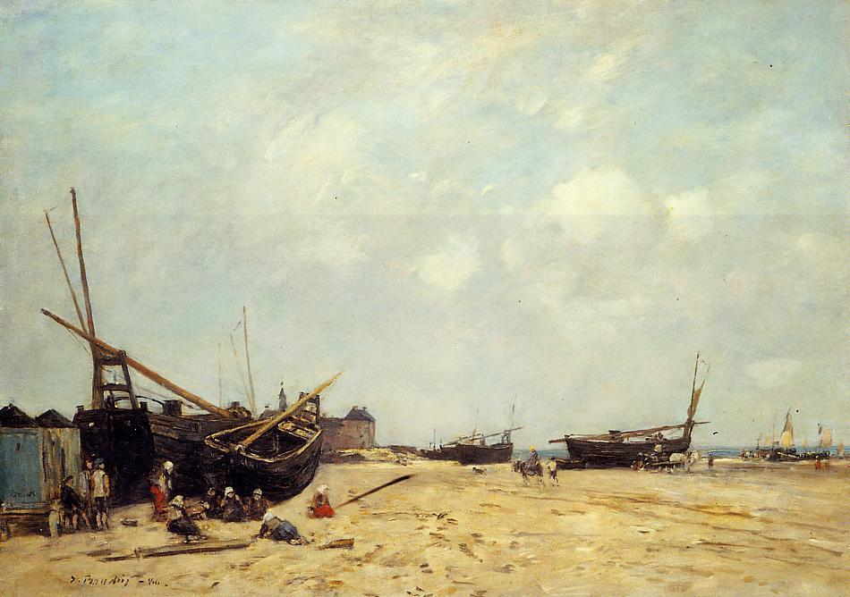 Fishing Boats Aground and at Sea, 1880