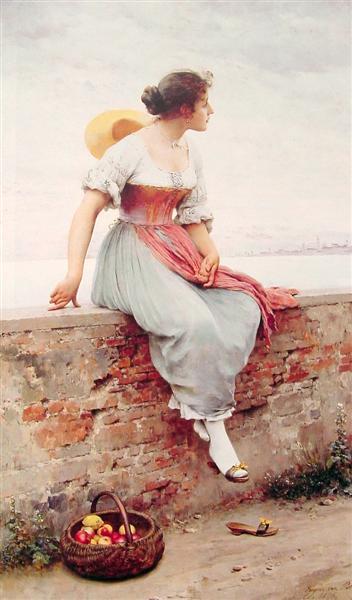 A Pensive Moment, 1896 - Эжен де Блаас