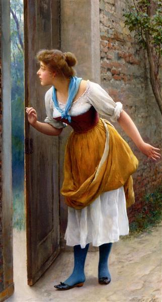 The Eavesdropper, 1906 - Eugen de Blaas