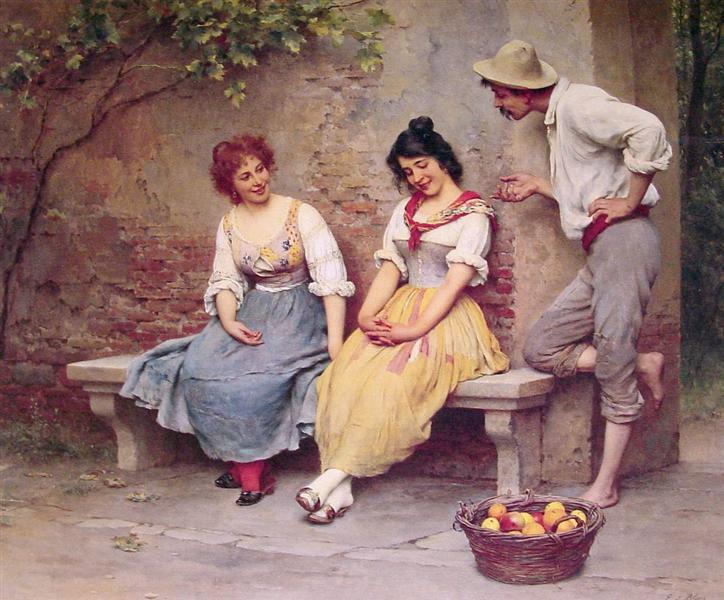 The Flirtation, 1904 - Eugene de Blaas