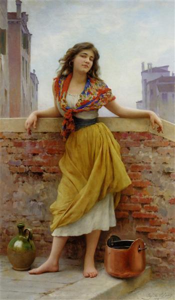 The Watercarrier, 1908 - Эжен де Блаас