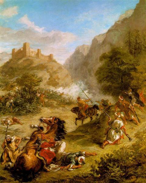 Arabs Skirmishing in the Mountains, 1863 - Eugene Delacroix
