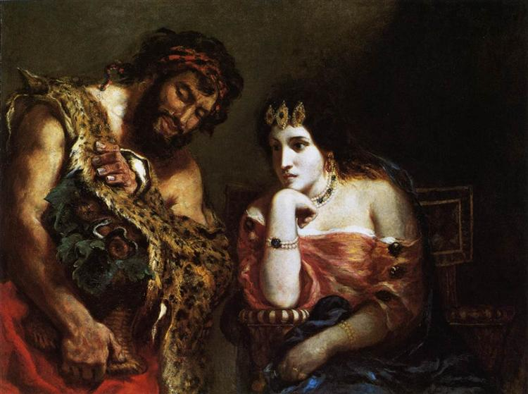 Cleopatra and the Peasant, 1838 - Eugene Delacroix