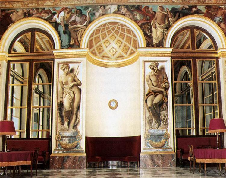 Frescoes on the west wall (Salon du Roi, Palais Bourbon, Paris), 1833 - 1837 - Eugene Delacroix