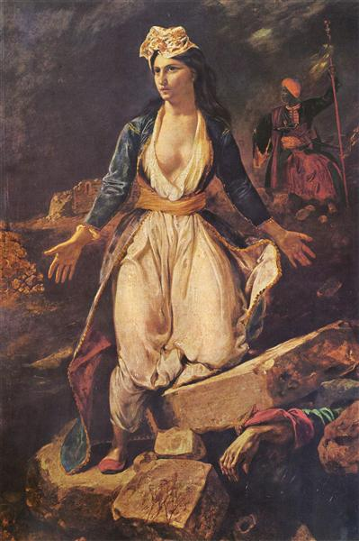 Greece expiring on the Ruins of Missolonghi, 1826 - Eugene Delacroix