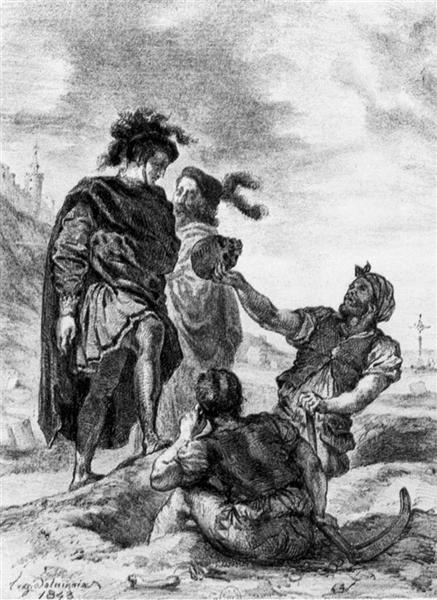 Hamlet and Horatio before the Grave Diggers, 1843 - Eugène Delacroix
