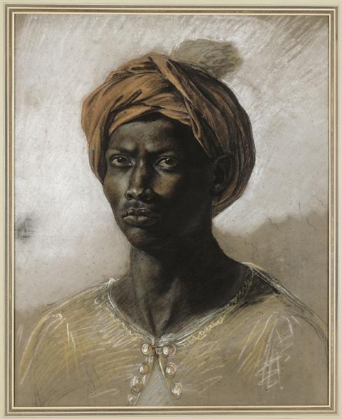 Portrait of a Turk in a Turban, c.1826 - Eugene Delacroix