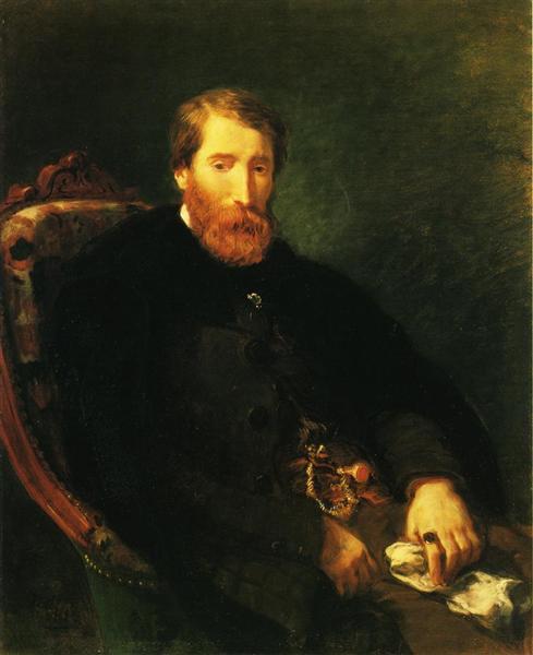 Portrait of Alfred Bruyas, 1853 - Eugene Delacroix