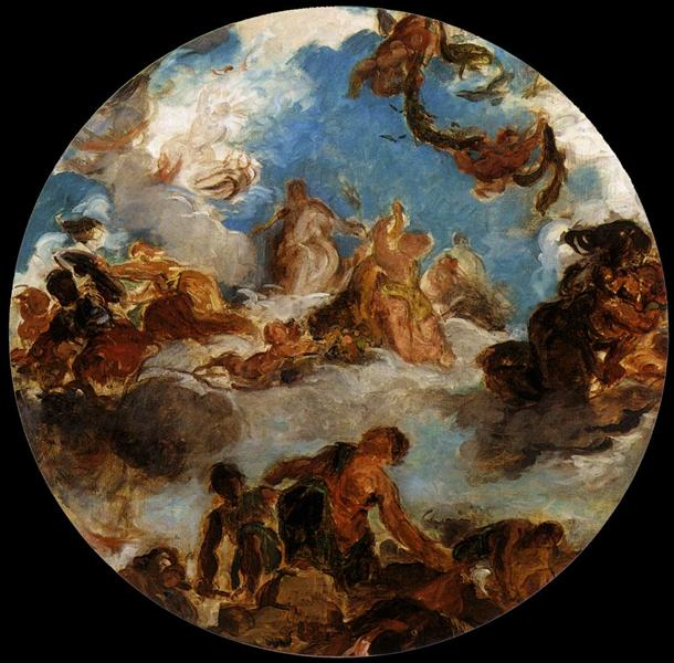 Sketch for Peace Descends to Earth, 1852 - Eugene Delacroix