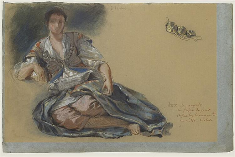 Study for the painting Women of Algiers, 1834 - Eugene Delacroix