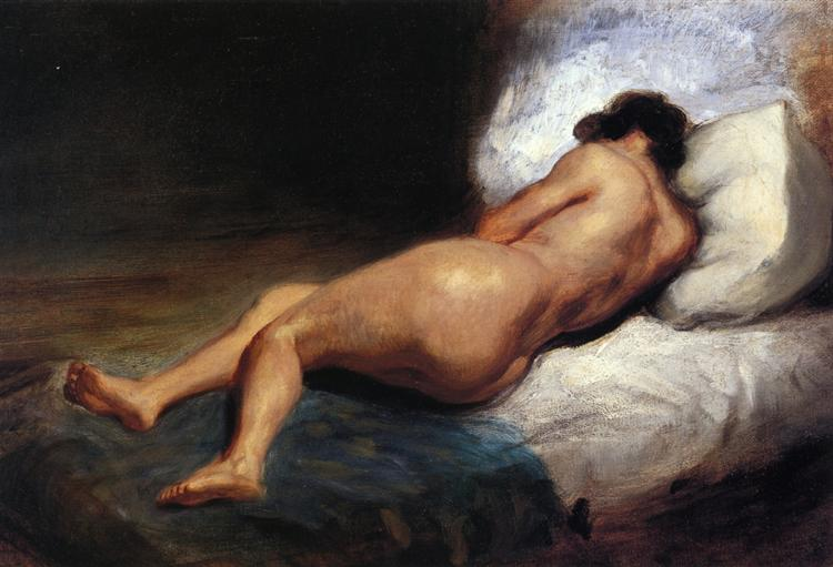Study of a Reclining Nude, 1824 - Eugene Delacroix