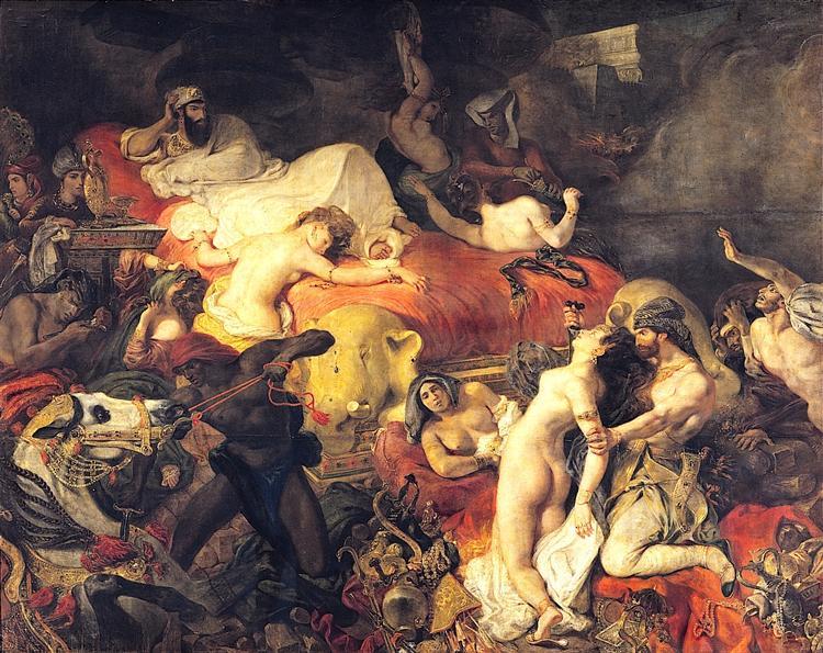 Death of Sardanapalus - Eugene Delacroix