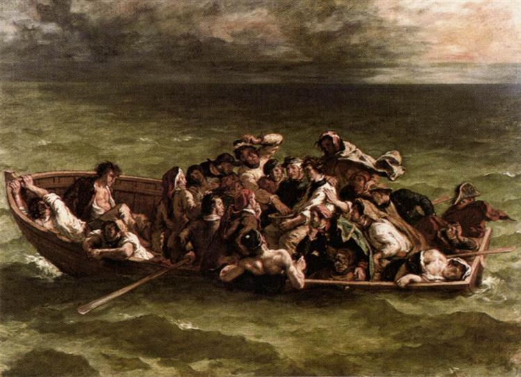 The Shipwreck of Don Juan, 1840 - Eugene Delacroix