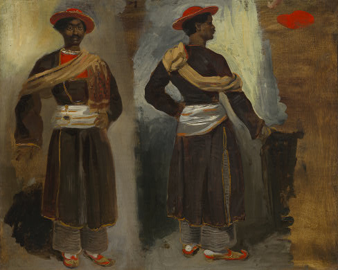 Two Views of a Standing Indian from Calcutta, 1823 - 1824 - Eugene Delacroix