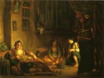 Donne di Algeri nel loro appartamento - Eugene Delacroix