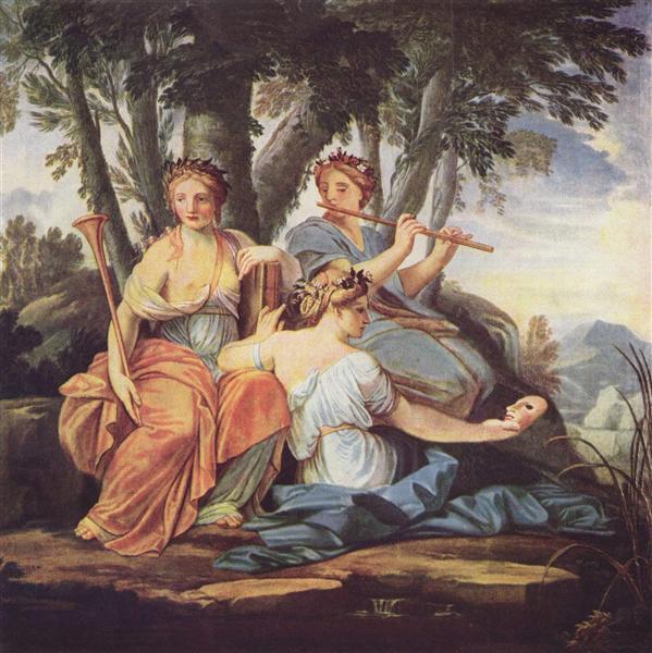Clio, Euterpe and Thalia, c.1640 - c.1645 - Eustache Le Sueur