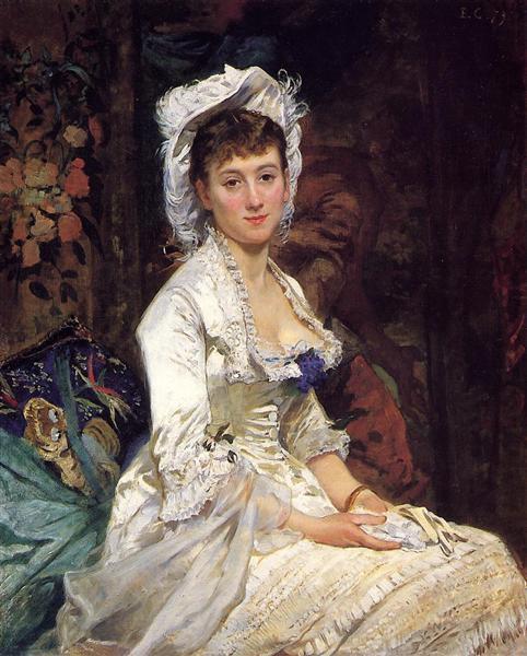 Portrait of a Woman in White, 1879 - Eva Gonzales