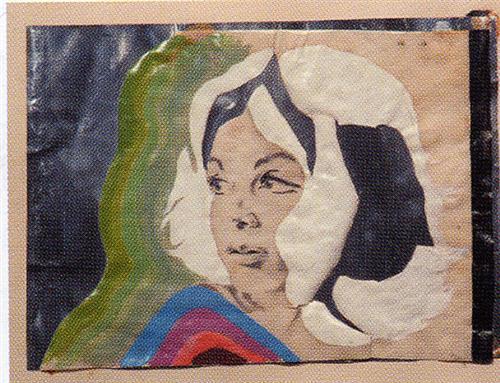 Autoportrait sur papier d'argent - Evelyne Axell