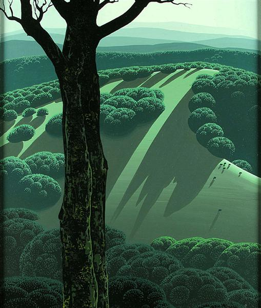 Green Hillside, 1970 - Eyvind Earle