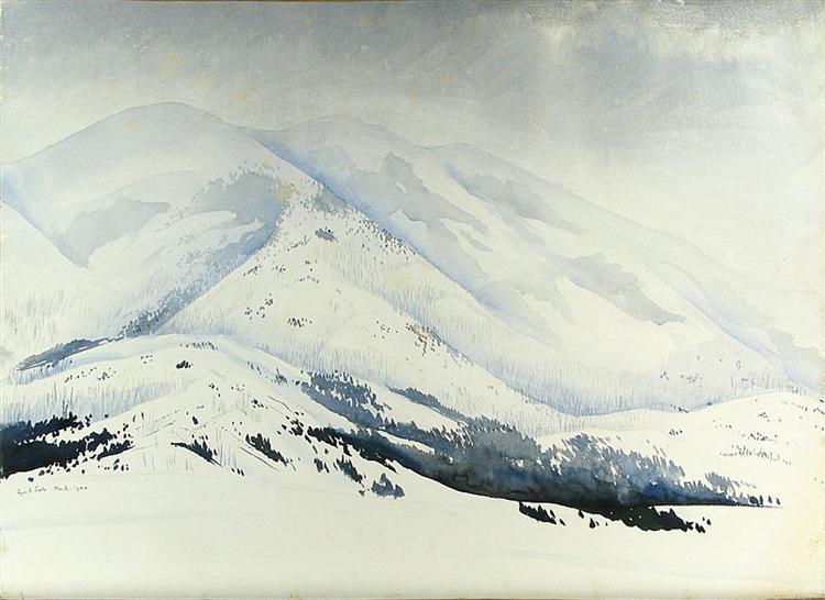 Snowy Mountain, 1940 - Eyvind Earle