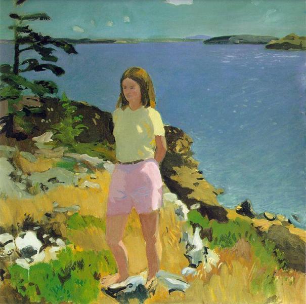 Girl in a Landscape - Fairfield Porter