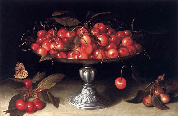 Cherries in a Silver Compote - Fede Galizia