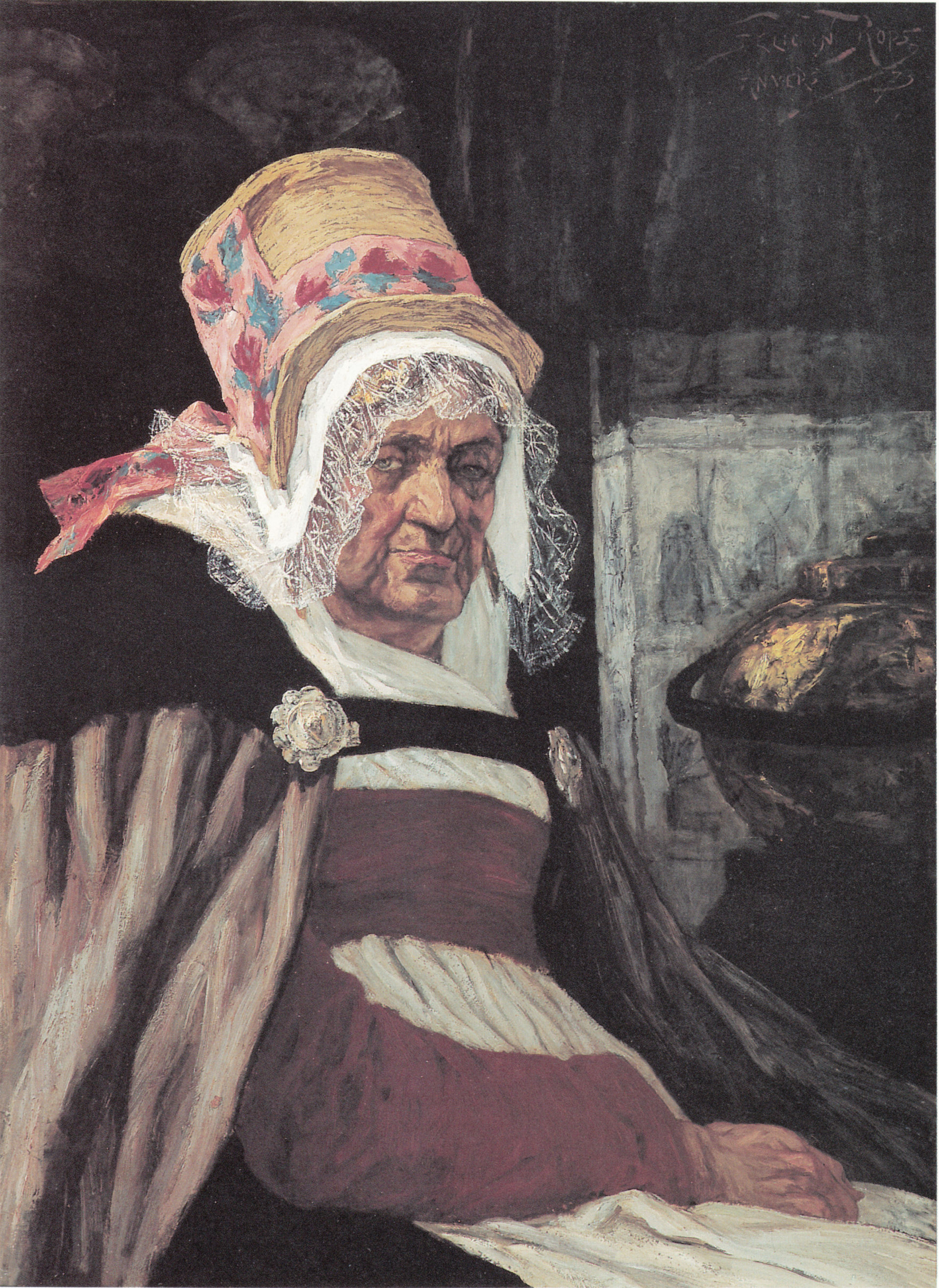 Head of old woman from Antwerp, 1873