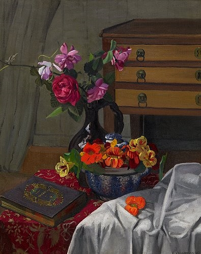 Roses and nasturtiums, 1920 - Felix Vallotton
