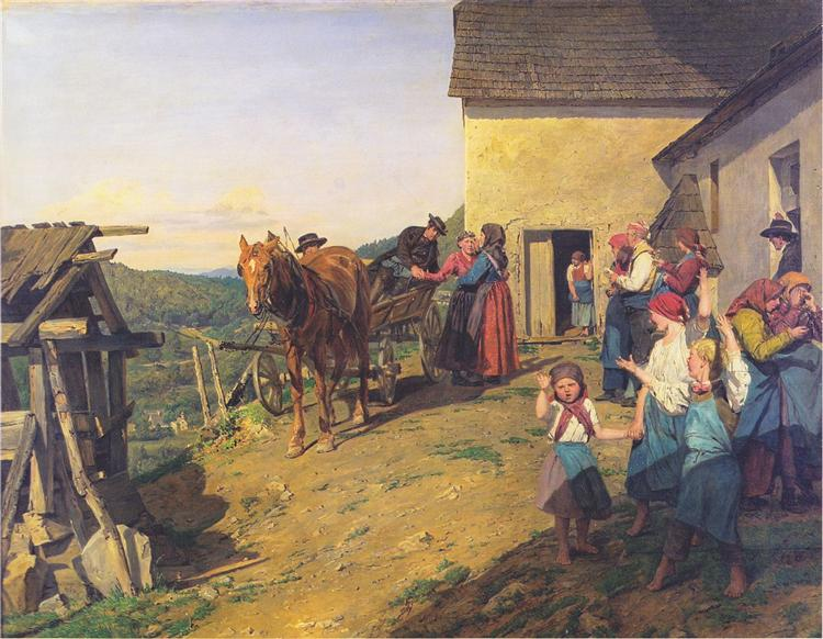 Farewell to the bride by the parents, 1863 - Фердинанд Георг Вальдмюллер