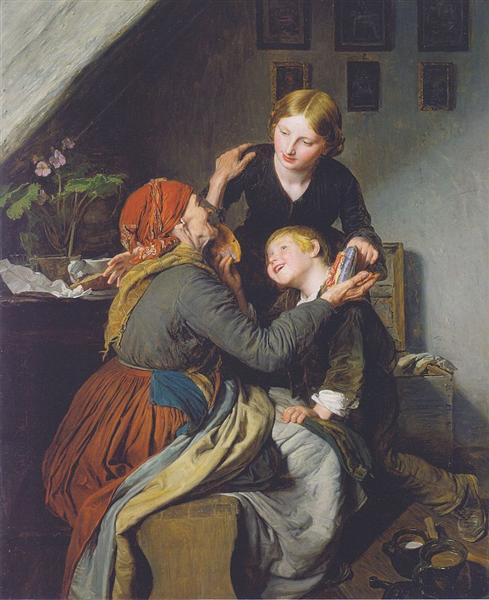 Grandma's Birthday, 1856 - Ferdinand Georg Waldmüller