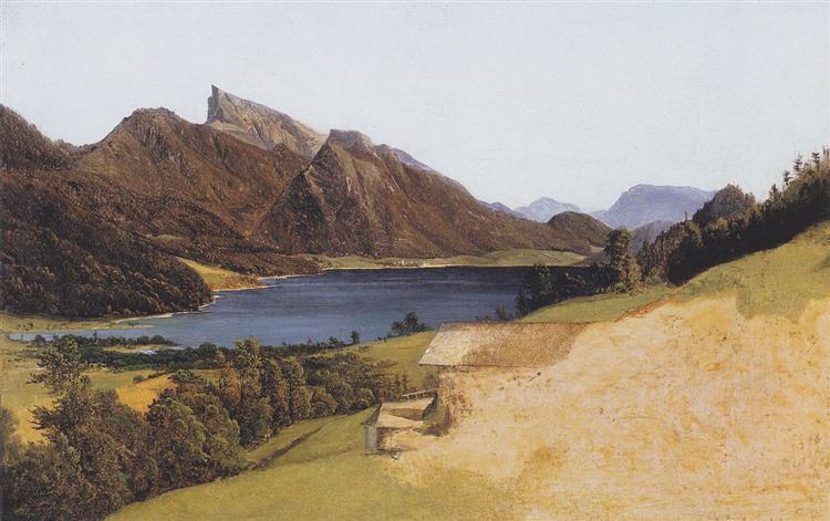Lake Fuschel with Schafberg, 1835 - Ferdinand Georg Waldmüller
