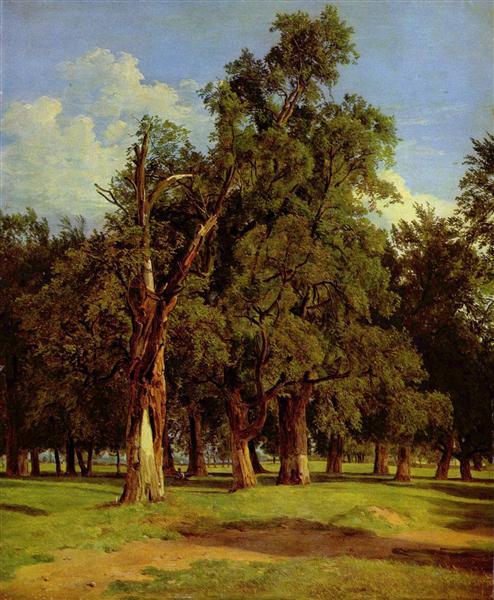 Old elms in Prater, 1831 - Ferdinand Georg Waldmüller