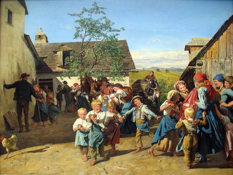 Return from the Church Fair, 1859 - Ferdinand Georg Waldmüller