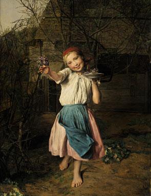The Violet Girl - Ferdinand Georg Waldmüller