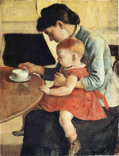 Mother and Child - Ferdinand Hodler