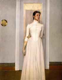 Portrait of Marguerite Khnopff - Фернан Кнопф