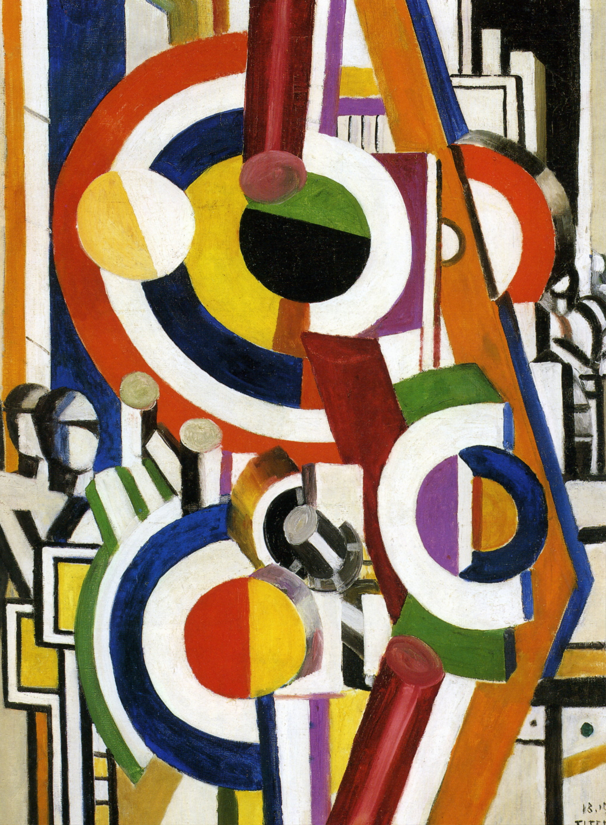 Fernand Léger's and Marcel Duchamp   Inventing Abstraction: 1910-1925, at MoMA discs 1919