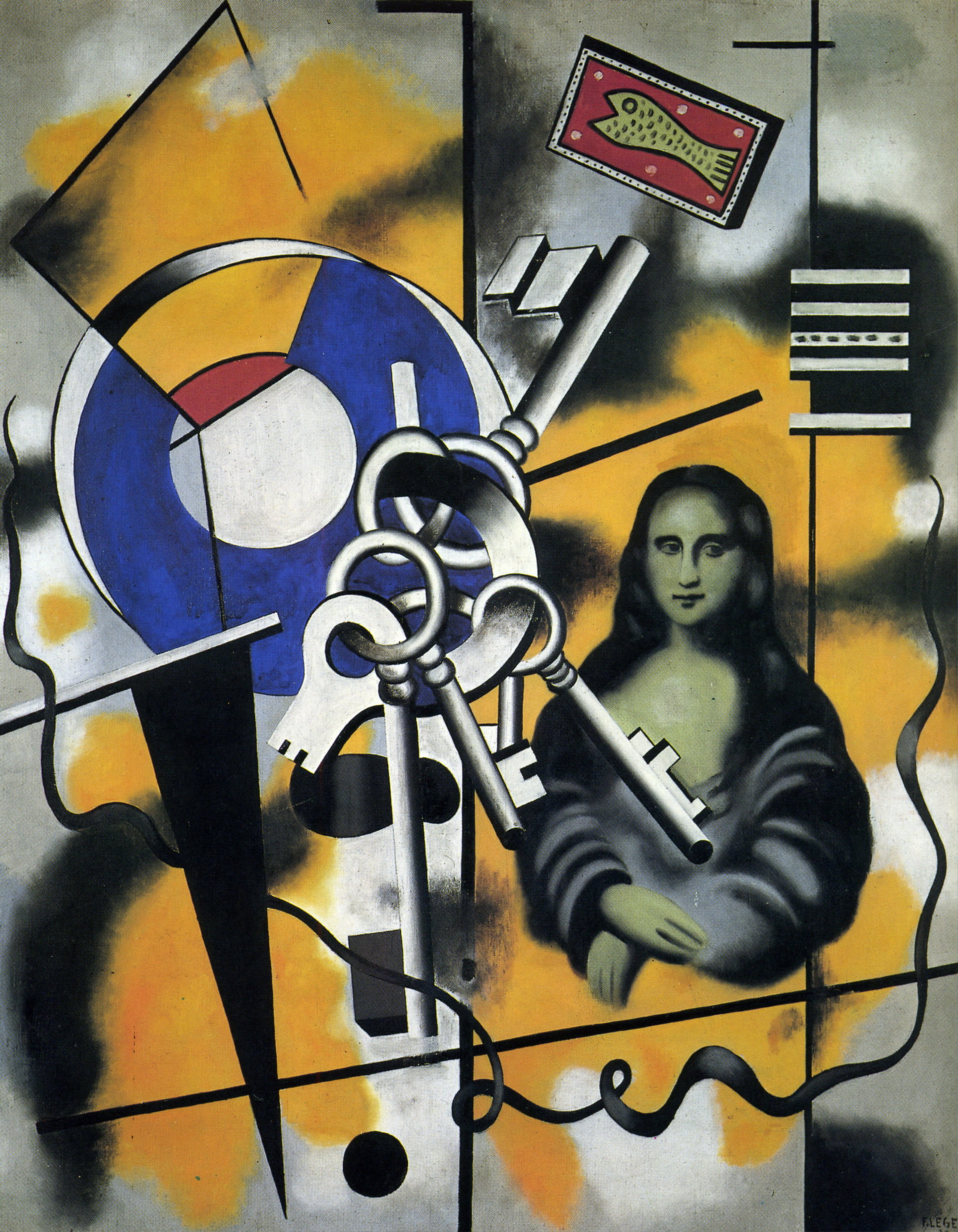 Populaire Mona Lisa with the keys, 1930 - Fernand Leger - WikiArt.org WP68