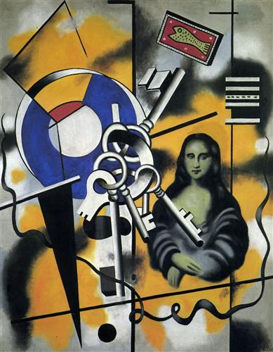Mona Lisa with the keys - Fernand Leger